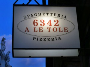 Spaghetteria: A Le Tole